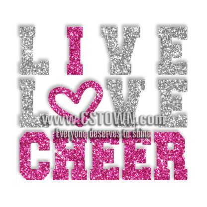 Cheer Shirt Design Ideas 17 best images about cheer tshirt ideas on pinterest cheer mom uca cheer and cheerleading t Custom Best Shinning Live Love Cheer Glitter Iron On Transfer Design For Shirts
