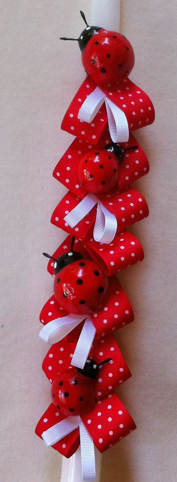Orthodox Easter Candle Ladybugs