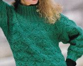 "Vintage Knitting Pattern Instructions to Make a Ladies Jumper Sweater (32-42)"" Bust"
