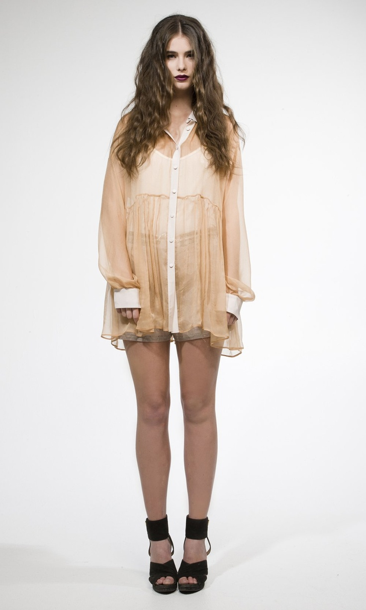 From Ruby Boutique AW12 capsule collection; crinkle smock