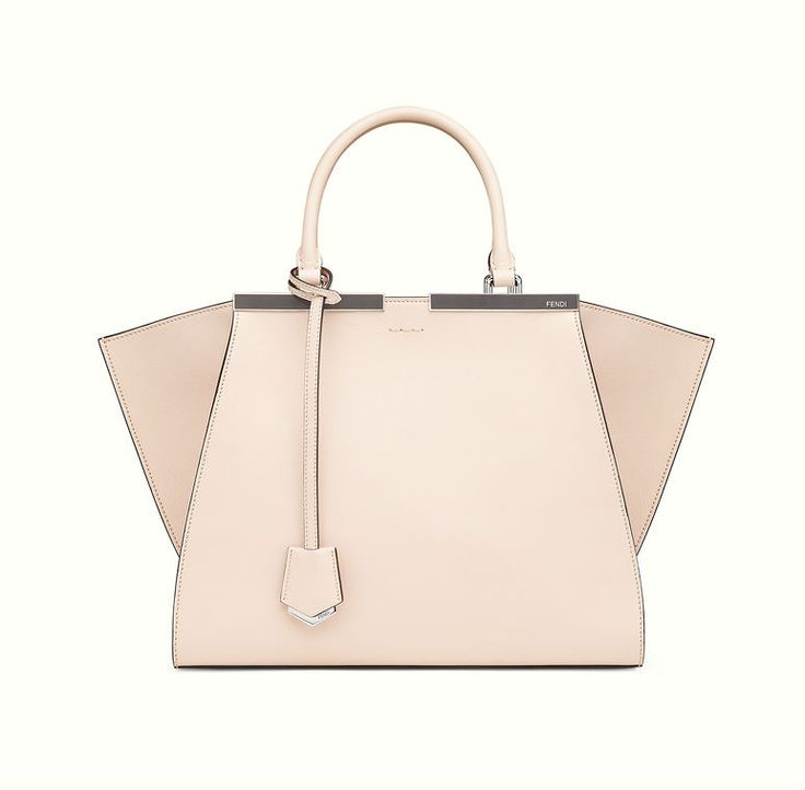 The Fendi 3Jours tote bag in pastel pink with raw edge.