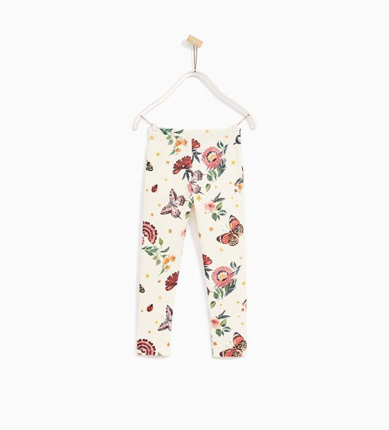 Image 5 of PRINTED PIQUÉ TROUSERS from Zara