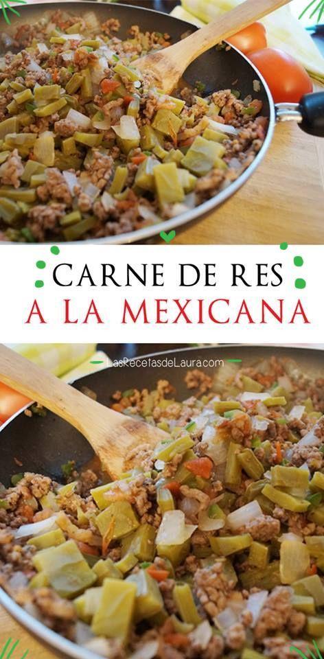 CARNE MOLIDA CON NOPALES Receta Saludable Facil y rapida para toda la familia (Arroz Mexicano Mexican Recipes)