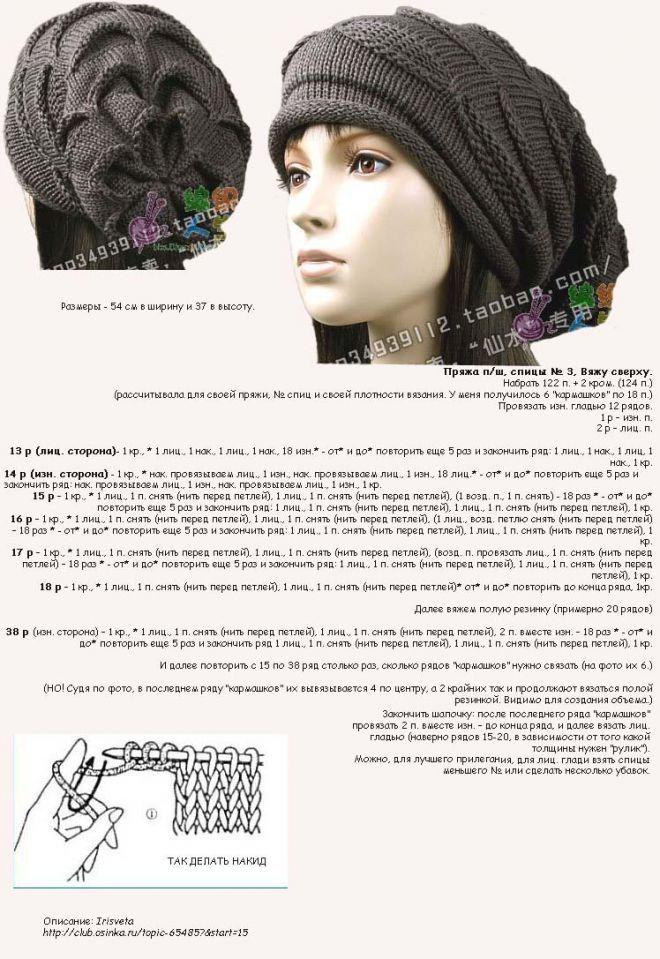 образом крепить фасоны вязаных шапок фото и схемы вязания доверяем свое здоровье