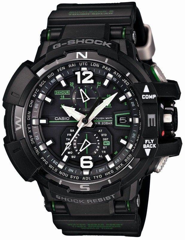 Casio Men Watches : Casio G-shock Gw-a1100-1a3jf Sky Cockpit Mvt Radio Control Multiband 6