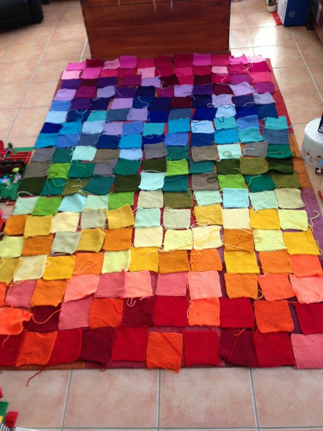 116 Best Knitted Squares Blanket Images On Pinterest