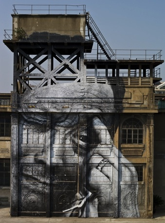 """""""Wrinkles of the City"""" by JR"""