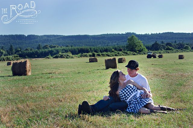 Country couple | Flickr - Photo Sharing! The Road Photography www.theroadphotography.com couple posing, hay, country, love, couples pose