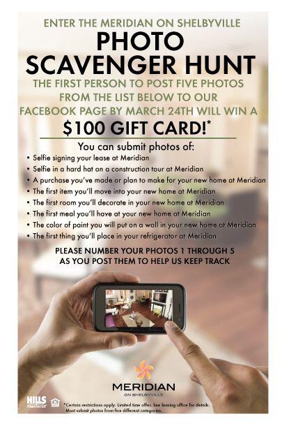 Scavenger Hunt Facebook contest