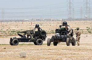 DESERT PATROL VEHICLE      Navy SEALs (SEa, Air, Land) operate Desert Patrol Vehicles (DPV) while preparing for an upcoming mission.jpg