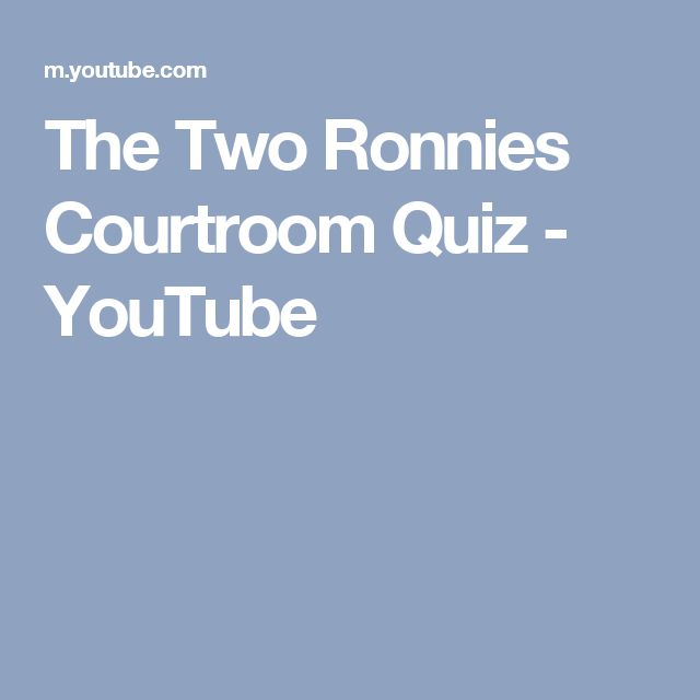 The Two Ronnies Courtroom Quiz - YouTube