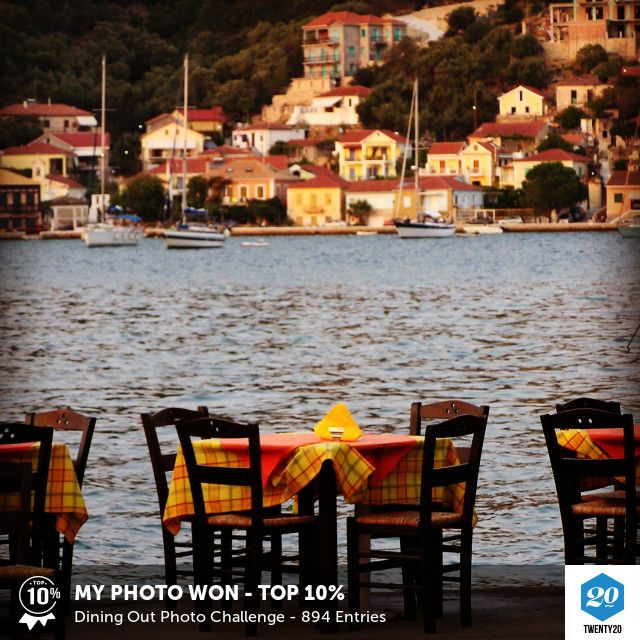 Vathy, Ithaki. My photo was voted Top 10% in the Dining Out challenge on Twenty20. See the entries.