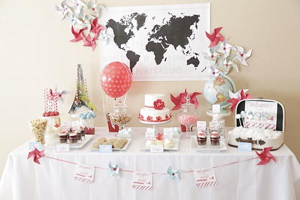 We Are So In Love With Every Detail Of This Welcome To The World Travel Themed Baby Shower We Don't Even Know Where To Begin!