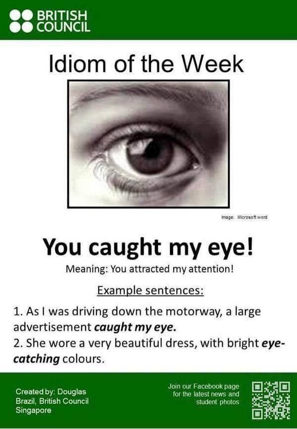 Idiom 'You caught my eye!' #LearnEnglish #EnglishVocabulary @English4Matura