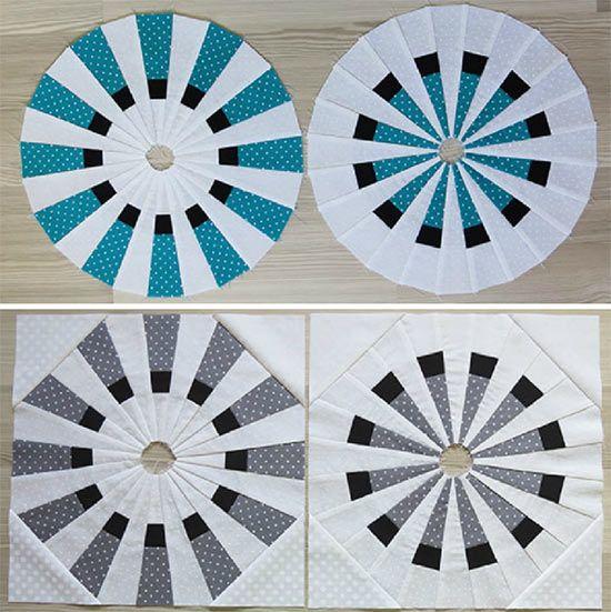 Dresden Fan Plate Quilt Pattern - Geta's Quilting Studio -