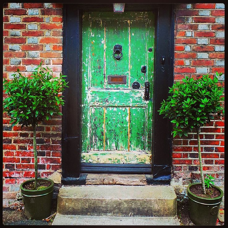 Lovely old green door in Fletching village..