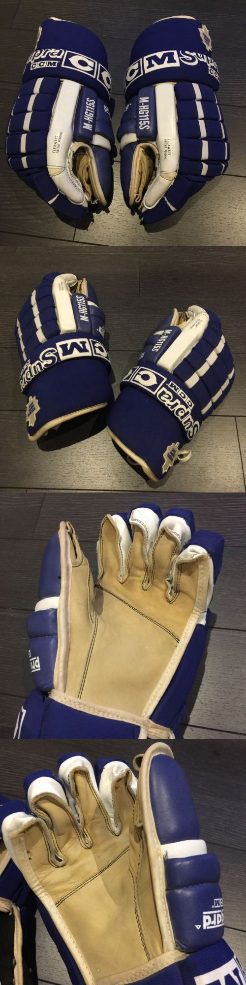 Gloves 20853: Ccm Supra Toronto Maple Leafs Nhl Pro Stock Hockey Gloves L Large Vtg -> BUY IT NOW ONLY: $299.99 on eBay!