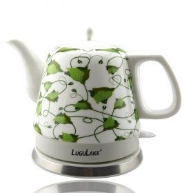 LuguLake Teapot Ceramic Electric Kettle, Cordless Water Tea, 1200ML (Green) - $60.99 : OkBuyNow