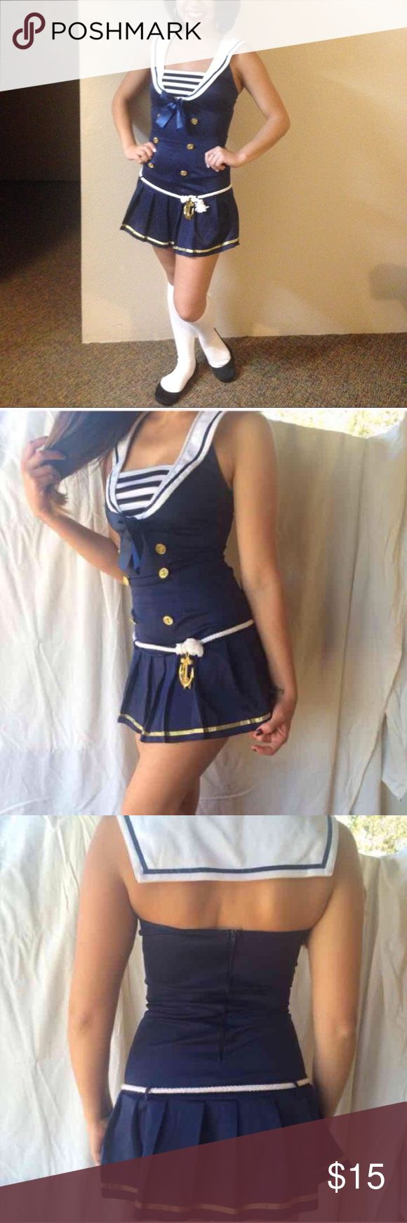 Sailor Costume Halloween costume in excellent condition. Belt and white knee high socks included. Leg Avenue Other