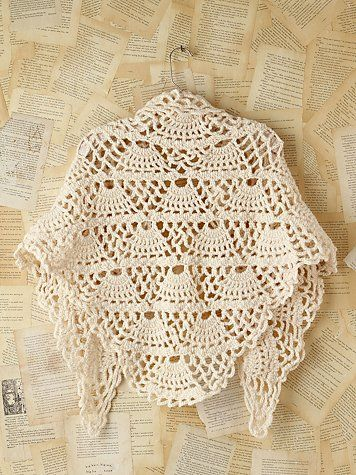Free People Vintage Crochet Poncho -- I really like this one