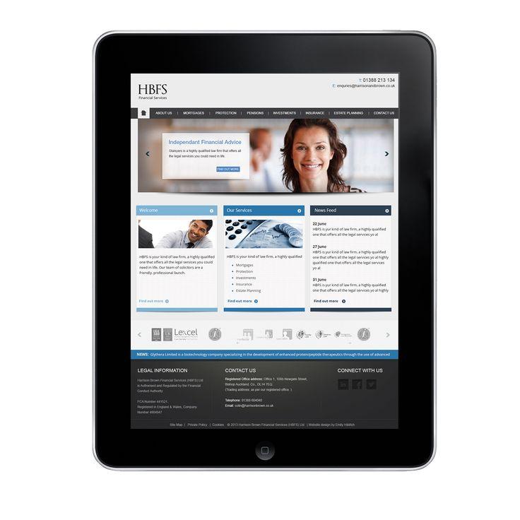 Financial corporate website, #bluedesign #bold #professional - under developments