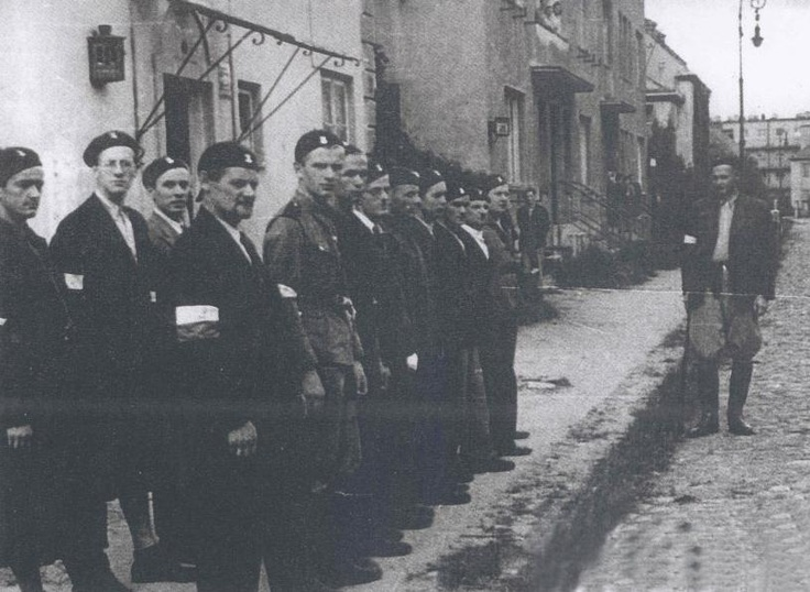 Armia Krajowa forces assemble at 'W'-hour in Wola.