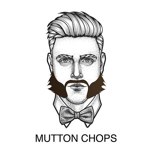 Oxford Shop Mutton Chops Beard