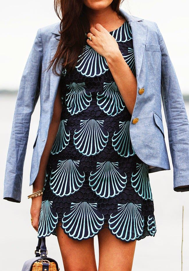 Lilly Scallops dress & Two Penny Blue blazer | sarah vickers https://www.stitchfix.com/referral/4892273