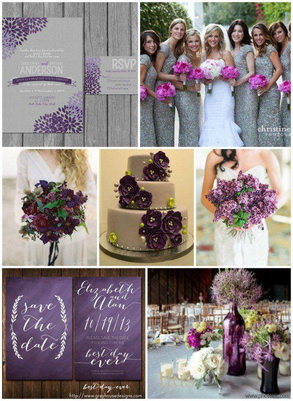 Gray And Purple Wedding Ideas Wedding Decor Ideas