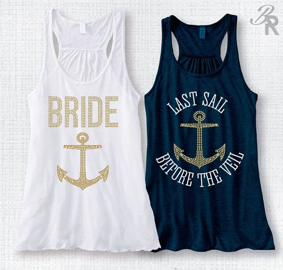 Last Sail Before the Veil-Bride w/GOLD by BridalRave on Etsy