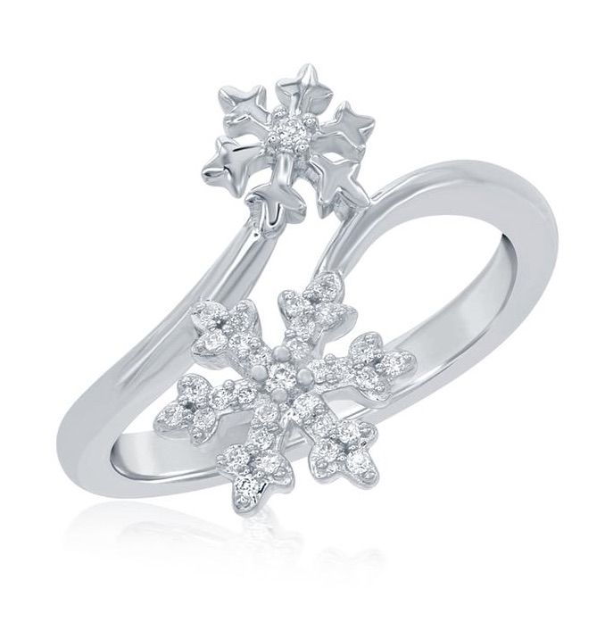 1000 ideas about snowflake ring on pinterest beautiful for Disney fine jewelry rings