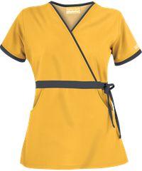Butter-Soft+Scrubs+by+UA™+Women's+Mock+Wrap+Scrub+Top+with+Side+Tie
