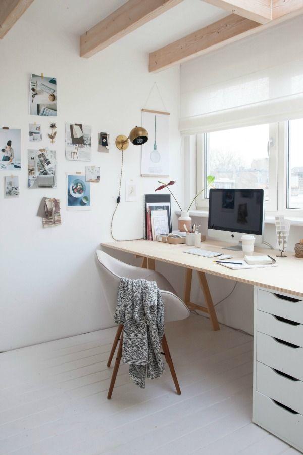 25 beste idee n over wit kantoor op pinterest kantoor aan huis kantoor aan huis bureau en - Kamer en kantoor ...