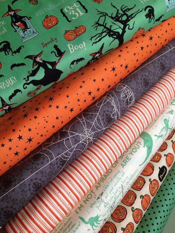 Witch Hazel Halloween fabric bundle by Riley Blake by fabricshoppe