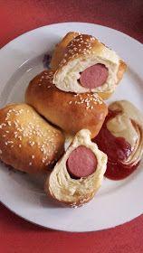 Hot dog, sütőben sütve