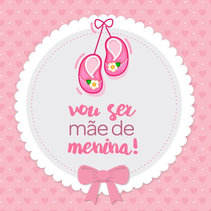 Vou ser mãe de menina | It's a girl | Encontre todos os mimos e enxovais para a sua menina em nossa loja . www.lojapapi.com.br