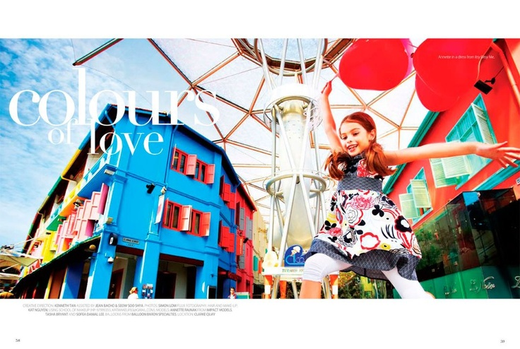 We love this! Redfish Kids Clothing shot in Singapore...check out Today's Parent Feb/Mar 2012 Issue