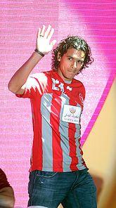 Sebastián Soria at the Qatar Stars League launch ceremony in 2012