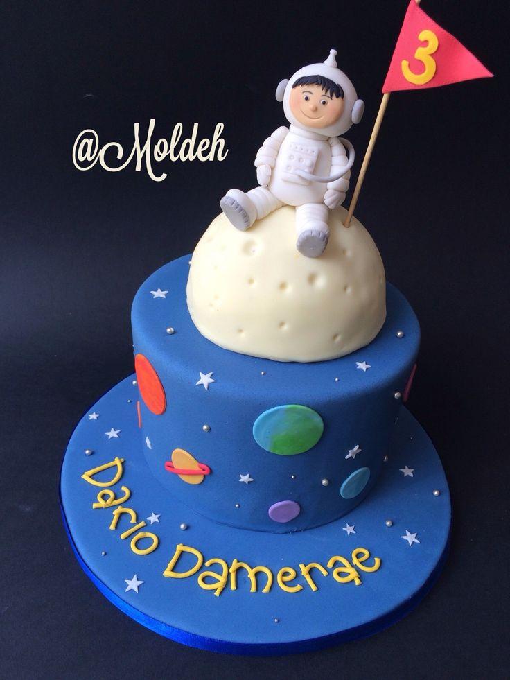 Pastel de astronauta para Cumple // Astronaut birthday cake
