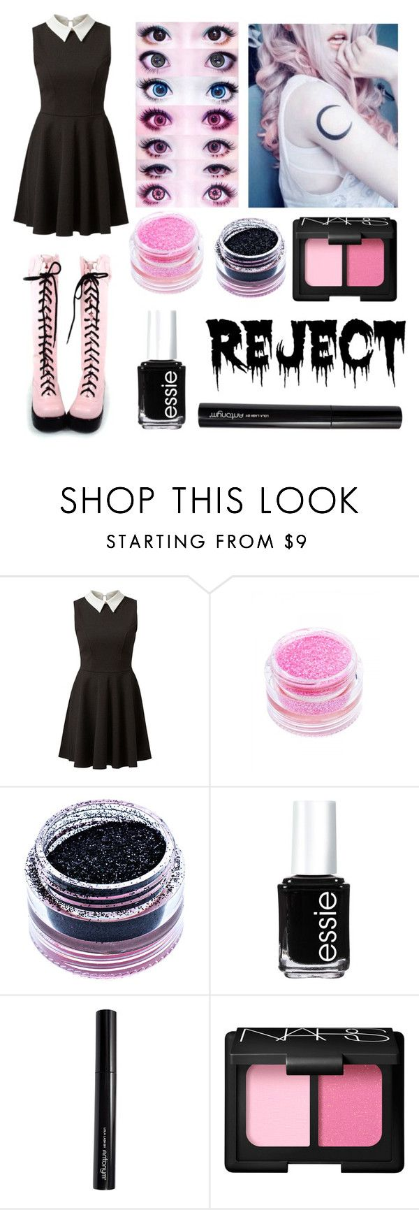 """""""Pastel Goth #23"""" by neverlandcth ❤ liked on Polyvore featuring Medusa's Makeup, Essie, Antonym and NARS Cosmetics"""