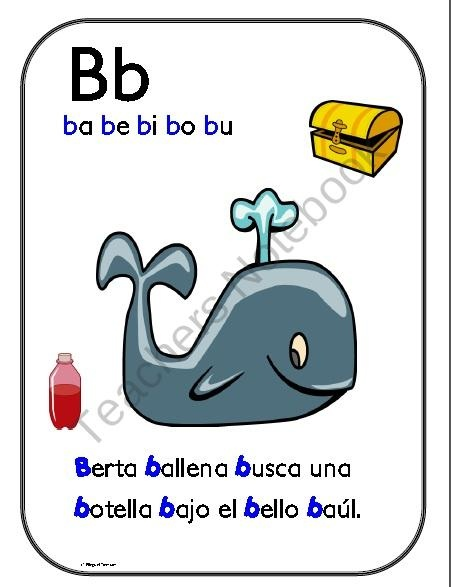Asombroso alfabeto de aliteracion Posters product from Bilingual-Treasures on TeachersNotebook.com