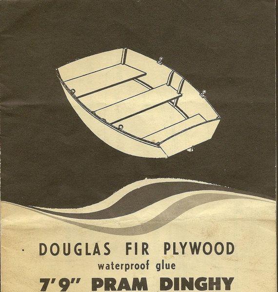 Vintage Boat Building Plan  Pram Dinghy 79 by TheOldBarnDoor