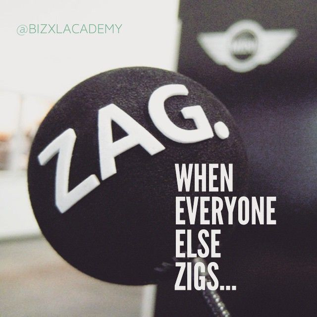 Define yourself and your brand by what you're not, as much as by what you are. You are not everyone else, you are unique and your uniqueness is what people want to buy... So, when you see everyone else zigging - it's time to zag ➡️➡️➡️↗️ ➖➖➖➖➖➖➖➖➖➖➖➖➖➖➖➖➖➖➖➖➖➖➖➖➖➖➖➖➖➖➖➖➖ #branding #brand advice #brand #marketing #marketingquotes #entrepreneur #entrepreneurs #entrepreneurial #entrepreneurship #entrepreneurmindset #entrepreneurquotes #businesslife #businessminded #businessonline…