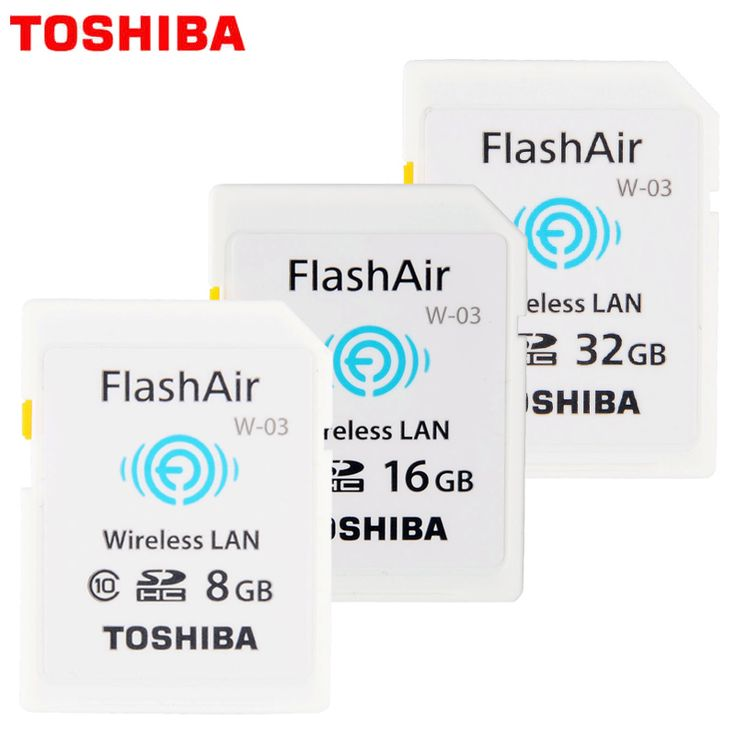 ==> [Free Shipping] Buy Best 100% Original Toshiba WIFI SD Card Shared Memory SD Card 32GB Class 10 SDHC Flash Memory WIFI SD Card cartao de memoria 8GB 16G Online with LOWEST Price | 32819541647