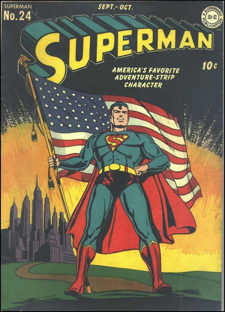 Superman Comics cover by Jack Burnley, 1943