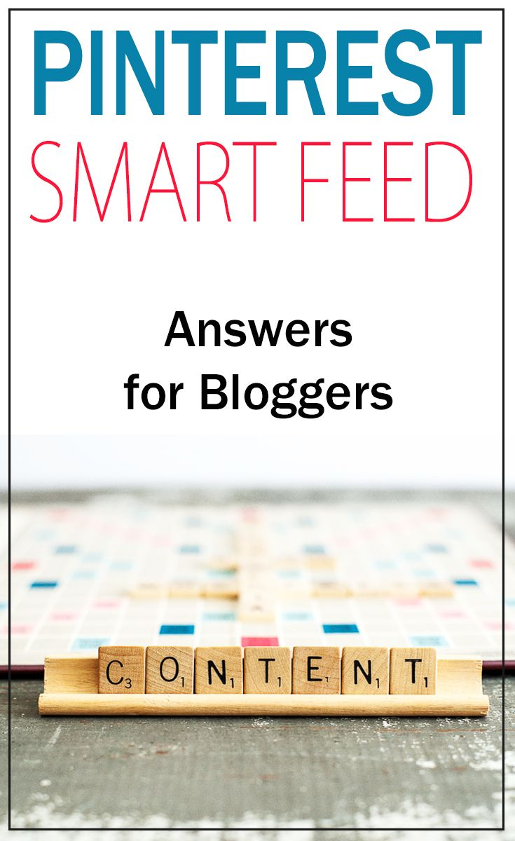 info on the new Pinterest Smart Feed and how to get it figured out