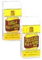 Gold Medal's Vanilla WafAKone Mix. 5# bags.  $11.67 ea or $56 for case of 6 at Popcorn Supply