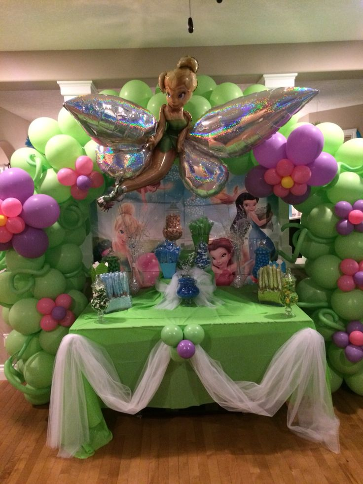 Tinkerbell Balloon Decor | Tinkerbell party, Tinkerbell ...