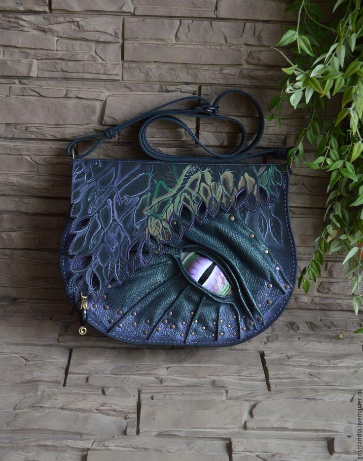 """Купить Сумка """"Радужный дракон"""" - абстрактный, дракон, сумка ручной работы, авторская ручная работа"""