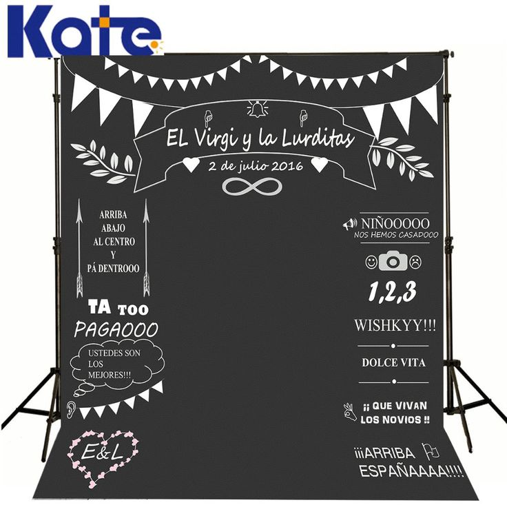 Wedding Blackboard Background Signature Together Photo, Party Photography Backdrops Personalize for Studio